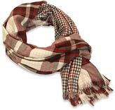 Boho Reverse Check Scarf in Red/Grey