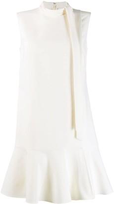 Valentino tie neck shift dress