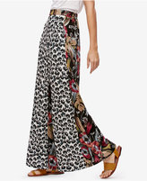 Free People In The Mix Contrast-Print Pants
