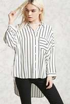 Forever 21 FOREVER 21+ Striped High-Low Shirt