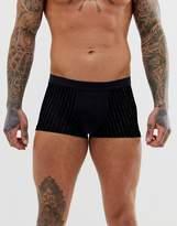 Asos Design ASOS DESIGN short trunk in black with stripe mesh side panels