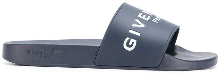 Givenchy logo strap slides