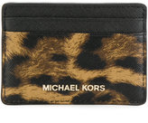 MICHAEL Michael Kors Jet Set travel leopard saffiano card case