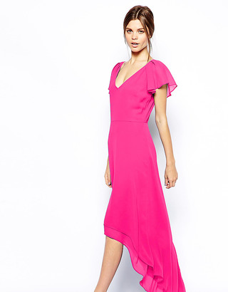 ASOS Ruffle Sleeve Maxi Dress
