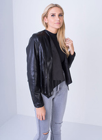 Missy Empire SP Waterfall Tassel Back Leather Jacket