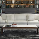Modloft Beckenham Coffee Table with Tray Top Black Color: White Lacquer / Walnut