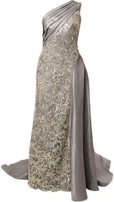 Tadashi Shoji Ohta One-Shoulder Draped Taffeta Gown