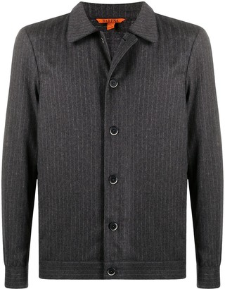 Barena Pinstripe Button-Up Shirt Jacket