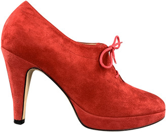 Opening Ceremony Red Suede Boots