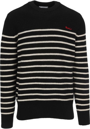 Ami Alexandre Mattiussi Ami Stripes Crew Neck Sweater