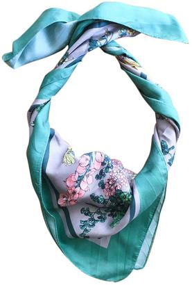 Uterque Green Silk Scarves