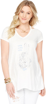 Motherhood Wendy Bellissimo Screen Print Maternity Top