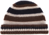 Marni Striped wool beanie hat