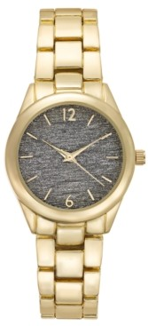 INC International Concepts Inc Gold-Tone Bracelet Watch 35mm, Created for Macy's