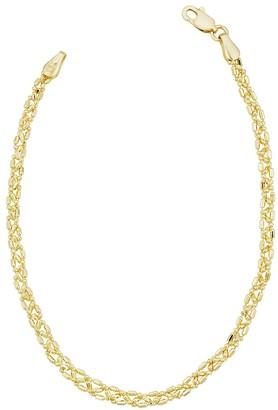 Italian Gold 14K Triple Bead Link Chain Bracelet