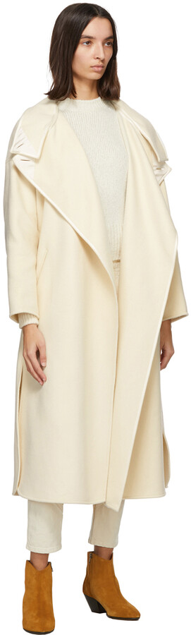 Thumbnail for your product : Isabel Marant Off-White Wool Relton Coat