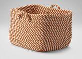 Ethan Allen Large Orange and White Basket
