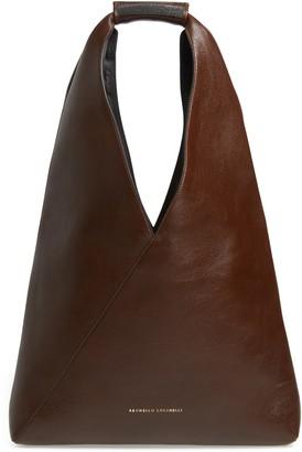 Brunello Cucinelli Monili Bead Leather Convertible Tote