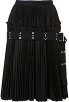 Sacai classic shirting a-line skirt