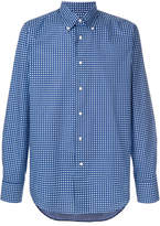 Canali geometric print shirt