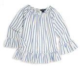 Ralph Lauren Toddler's, Little Girl's & Girl's Striped Ruffle Hem Top