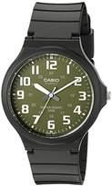 Casio Men's 'Easy To Read' Quartz Black Casual Watch (Model: MW240-3BV)