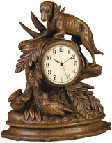The Well Appointed House Dog and Birds Brushed Wood Finish Clock
