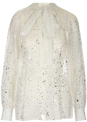 MSGM Sheer Pussybow Blouse