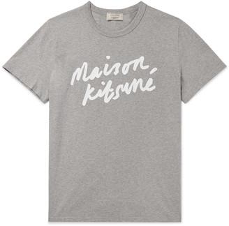 MAISON KITSUNÉ Logo-Print Cotton-Jersey T-Shirt