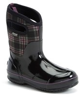 Bogs Women's 'Classic Winter Plaid' Mid High Waterproof Snow Boot With Cutout Handles