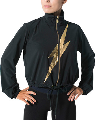 925 Fit Strike A Pose Lightning Bolt Graphic-Print Jacket