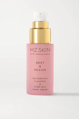 MZ SKIN Rest & Revive Restorative Placenta & Stem Cell Night Serum, 30ml
