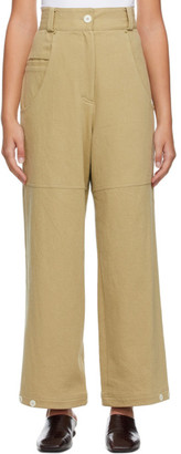 Low Classic Tan Classic Back Pocket Cotton Trousers