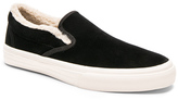 Junya Watanabe Velour With Sherpa Lining Slip On Shoes in Black.