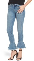Blank NYC Women's Blanknyc Fancy That Ruffle Hem Skinny Jeans