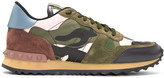 Valentino Green and Pink Camo Rockrunner Sneakers