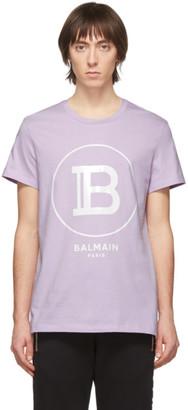 Balmain Purple Logo T-Shirt