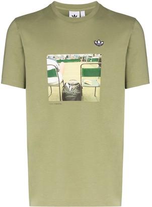 adidas photo print T-shirt