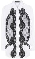 Dolce & Gabbana Lace-panelled Cotton Shirt