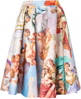 Moschino Renaissance print full skirt