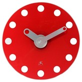 Infinity Instruments The Accent Round Clock - Red