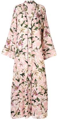 Dolce & Gabbana Printed Lilies Kimono Dress