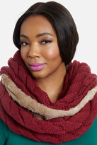 Fashion to Figure Cable Knit and Faux Fur Infinity Scarf