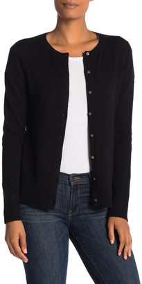 M Magaschoni Crew Neck Button Front Cashmere Cardigan