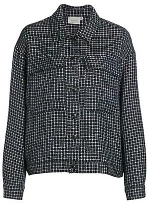 Gestuz Wool-Blend Grid Jacket