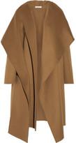 Barbara Casasola Draped Wool And Alpaca-blend Coat - Camel