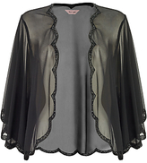 Phase Eight Beaded Scallop Cape, Black