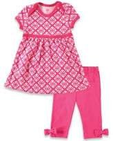 Baby Vision BabyVision® Hudson Baby® 2-Piece Short Sleeve Dress and Legging Set in Pink