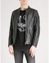 Diesel L-quad Zipped Leather Jacket