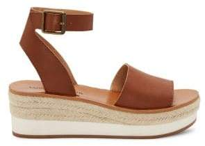 Lucky Brand Joodith Leather Wedge Espadrilles